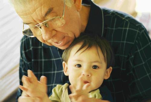 Abuelo y nieto