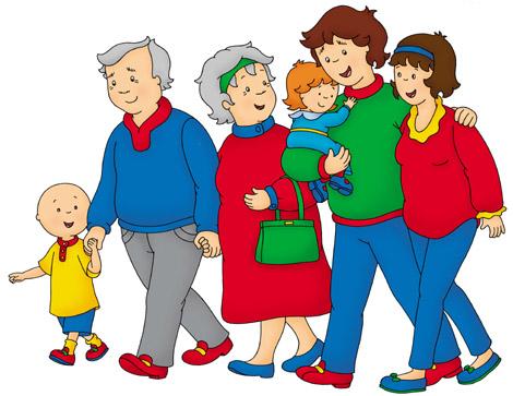 Caillou y su familia