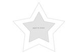 Marco con forma de estrella